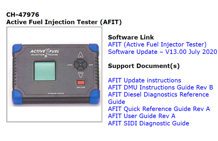 Latest AFIT Software V13 Now Available