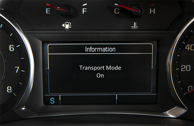 Turn Transport Mode Off Before New Vehicle Delivery