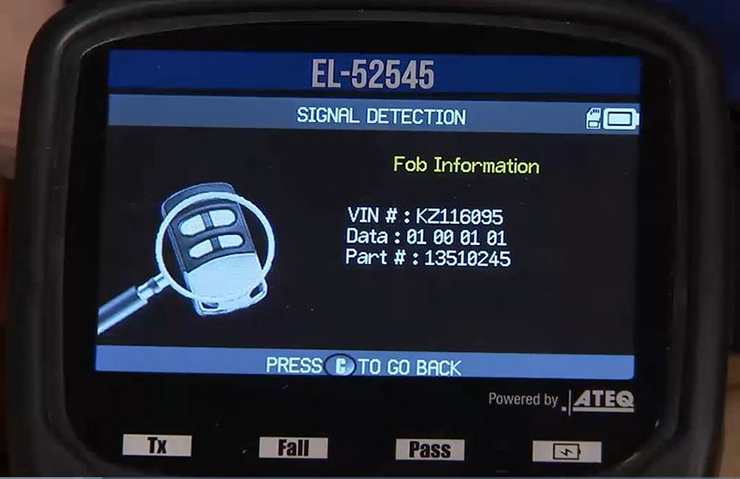 Identifying Stand-Alone Keys and Key Fobs with the EL-52545 TPMS and RF Tool