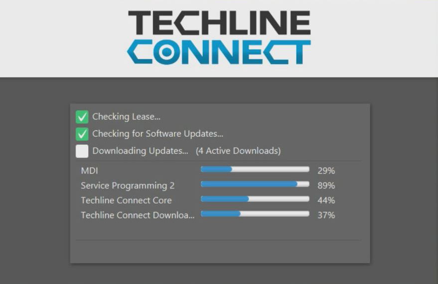 Actualización de software Techline Connect