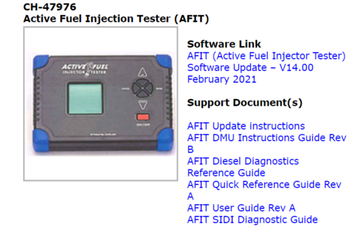 AFIT Software V14 Now Available