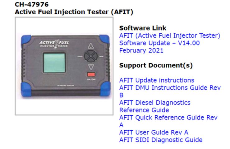 Logiciel AFIT V14 maintenant disponible