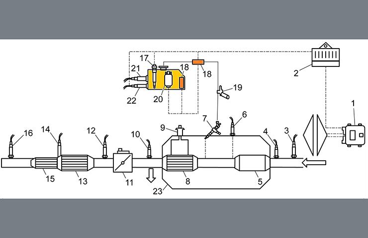Calentador de tanque de fluido de reducción de emisiones defectuoso