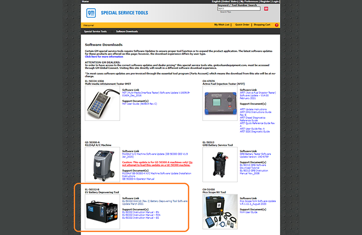 Latest EL-50332 EV Battery Service and Depowering Tool Software Released