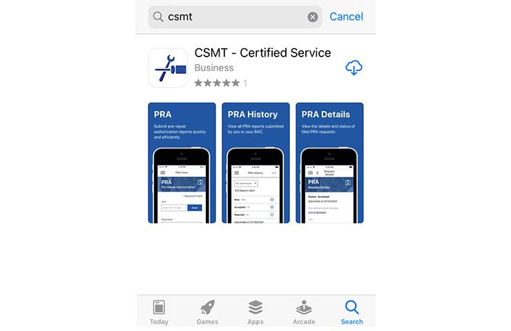 Actualización de la aplicación Certified Service Mobile Toolbox requerida antes del 1 de junio