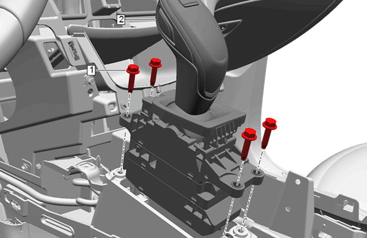 Devolución de partes de ensamble de selector de rango de transmisión electrónica