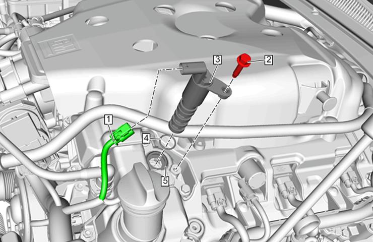 Códigos DTC de posición del árbol de levas de admisión del motor de 3.6L